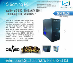 PC GAMER i5 650 | Nvidia GTX 580 | 8 GB DDR3 | 1 TB | WIN 7