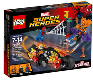 Brand new Lego spider-man ghost rider team-up 76058