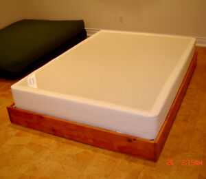 Double Pine Bed Frame & Ikea Box Spring
