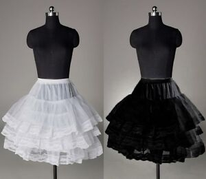 Short White or Black Poofy Crinoline Tulle Petticoat XXS- XS New