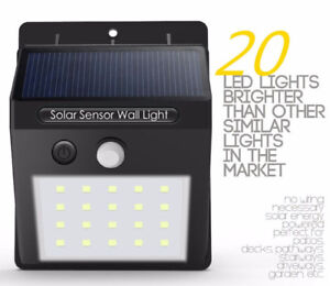 Led solar lights... With motion detection -- works in winter