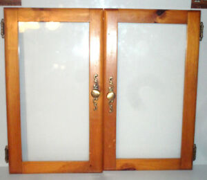Pair of Cabinet Doors Glass Replacement Woodworking Project.