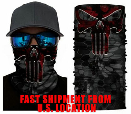 FACE MASK Shield Gaite RED PUNISHER Washable Reusable - US Shipping - IN STOCK