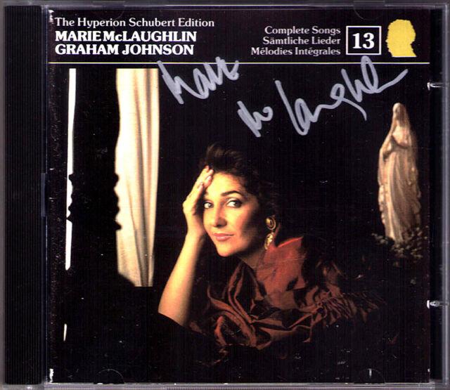 Marie McLAUGHLIN Signed SCHUBERT Szene aus Faust Ellens Gesang CD Thomas HAMPSON