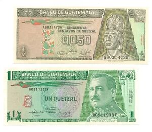 BILLETS/ PAPIER MONNAIE DU GUATÉMALA