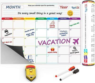 Monthly Calendar Planner Magnetic Board - Dry Erase Board Refrigerator Calendar