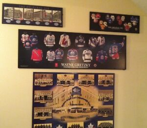 NHL HOCKEY PLAQUES, MAPLE LEAFS, GRETZKY, OLD TIMERS Cambridge Kitchener Area image 1