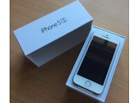 iPhone 5s 16gb silver, unlocked - mint condition
