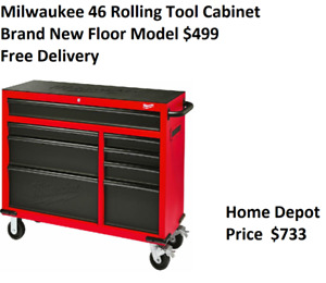 Milwaukee 46-inch 8-Drawer Tool Cabinet / Chest - Brand New
