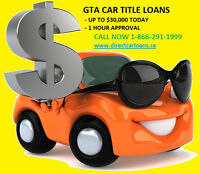 Borrow up to $30,000 TODAY On Your Vehicle & Keep Driving It