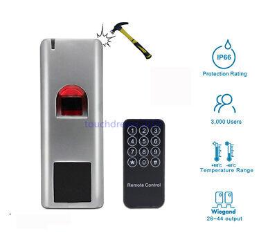 3000 Users Waterproof Metal Case  Biometric Fingerprint Access Control Teminal