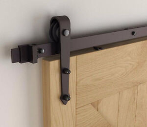 Easy to install barn door hardware, custom doors