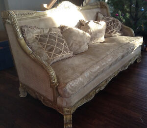 Couches, coffee table, dining table & chairs for sale