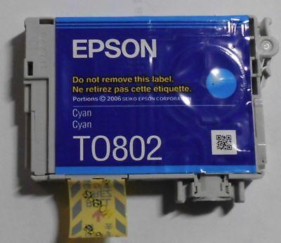 Epson T0802 Tinte cyan für Stylus Photo R265 R285 R360 RX560 RX685  PX700W , gebraucht gebraucht kaufen  Waddeweitz