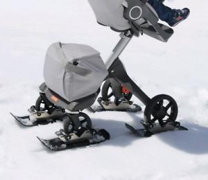 Polar Stroller Skis for 4 wheeled Stroller