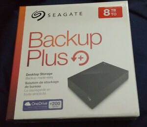 Brand new: Seagate Backup Plus 8TB Hard Drive with 200GB cloud