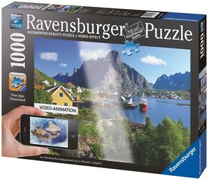RAVENSBURGER PUZZLE 1000 PCS. VIDEO-ANIMATION COMME NEUF