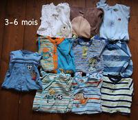 Lot de 10 pyjamas pour garçon - 3-6 mois
