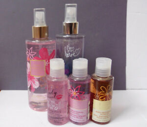 5pc Bath & Body Works Fragrant Spray & Anti bacterial Gel La Sen