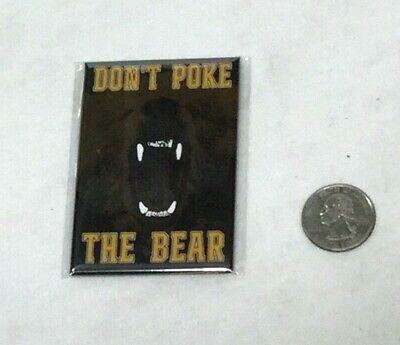 Bruins Themed Dont Poke the Bear Flat Logo Magnet Bostons Slogan FREESHIP