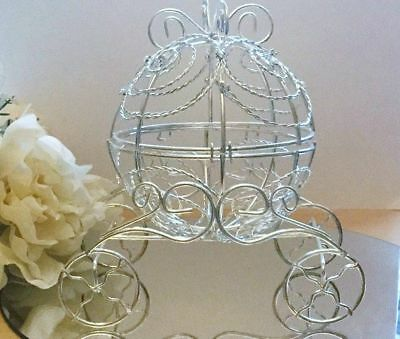 - Cinderella Carriage Wedding Cake Topper/Princess Centrepiece/Ferrero Choc Basket