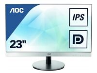 23inch IPS LED Full HD Monitor with two HDMI and VGA plus Built in Speakers
