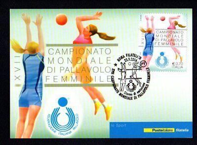 Italia 2014 : Campionati Mondiali Pallavolo Femminile - Cartolina Poste Italiane
