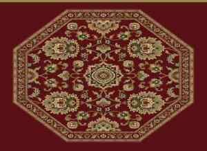 "Miniature WOVEN Carpets (Medium OCTAGON Carpets 5 .75""  X 5 .75"""