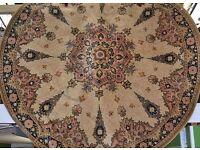 Vintage round circle rug