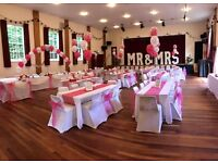 Chair Covers 90p / Balloon Package £47 / Centerpiece hire £5! Based in Romford LONDON ESSEX KENT