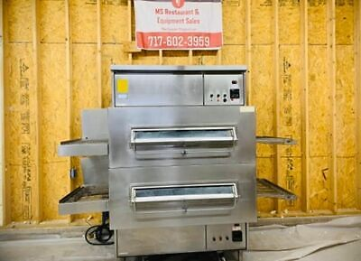 Middleby Marshall Double Stack Ps-360g Nat. Gas 32 Conveyor Pizza Ovens