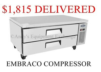 48 Inch Extended Top 4 Foot Wide Chef Base Refrigerated Work Top Station Drawers