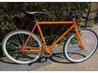 Fixie road bike trainer single speed