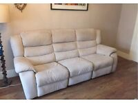 Sofa Settee Recliner DFS 3 Seater, couch (free local delivery)