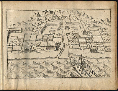 Antique Print-MOCHA ISLAND-CHILE-SOUTH AMERICA-SHIP-VOC-Van Noort-Commelin-1646