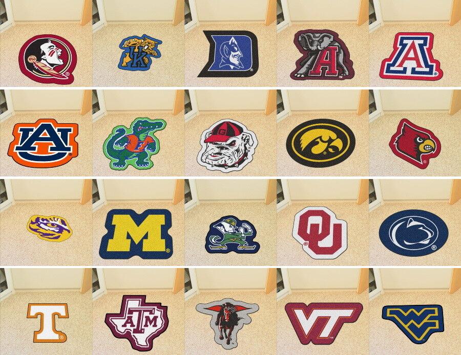 Fanmats NCAA Mascot Mat Area Rug - Choose Team
