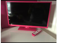 Pink tv & DVD player