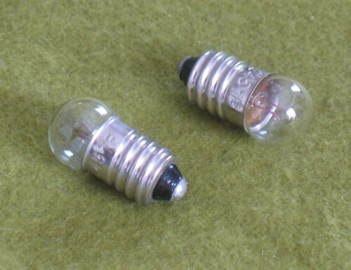 TWO Replacement Light Bulbs for Stereo / Slide Viewers, Magnifer 245 E10 G3.5 3D