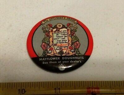 Vintage Mayflower Doughnuts Advertising Pocket Mirror