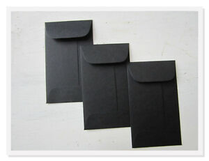 100 Black Envelopes, Bulk Mini Gift Enclosure, Coin Envelopes, Gift Card