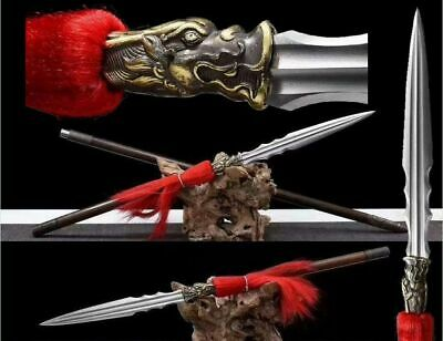 High Quality Chinese Wushu Spear Kung Fu Sword Folded Steel Blade Detachable Rod
