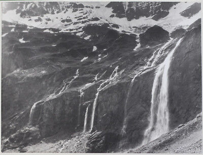 Used, Original vintage 1930s mountainscape/waterfall, by J. DAIMER for sale  Shipping to United States