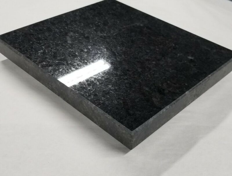 """Black Granite Surface Lapping Plate 9""""x12"""" includes (5)PSA Wet/Dry S/C sheets."""