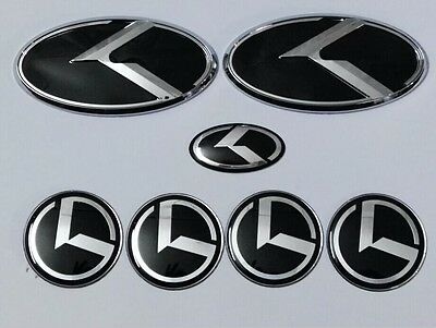 7pcs 3D black K logo badge emblem for KIA new Forte YD K3 2014 2015