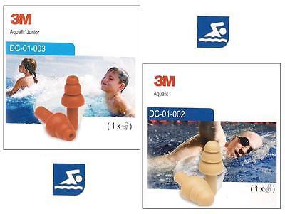 3M EAR Aquafit Schwimmschutz Ohrstöpsel Schwimmen Planschen Erwachsene Kinder