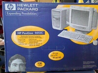 HP Pavilion 6653C Tower Hewlett Packard TowerPC66/100 SDRAM DIMMs Vintage