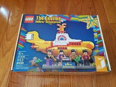 LEGO IDEAS 21306 The Beetles Yellow Submarine -Sealed, Scratch in Box.