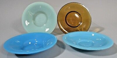 Fine Lot 4 China Chinese Peking Glass Condiment Plates Qing Dynasty 19-20th c.