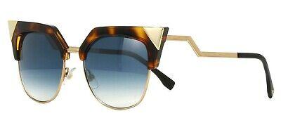 Fendi IRIDIA FF 0149/S TLW/G5 Sunglasses Havana/Gold Azure Light Mirror Cat (Fendi Iridia Sunglasses)