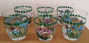 Portmerion Botanic Garden glass tumblers x 6